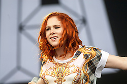Katy B plays the main stage.<br /> Saturday, T in the Park 2014.<br /> © Michael Schofield.