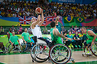 20160910 Copyright onEdition 2016©<br /> Free for editorial use image, please credit: onEdition<br /> <br /> Wheelchair Basketball player (Men) Ian Sagar from Barnsley, competing for ParalympicsGB at the Rio Paralympic Games 2016.<br />  <br /> ParalympicsGB is the name for the Great Britain and Northern Ireland Paralympic Team that competes at the summer and winter Paralympic Games. The Team is selected and managed by the British Paralympic Association, in conjunction with the national governing bodies, and is made up of the best sportsmen and women who compete in the 22 summer and 4 winter sports on the Paralympic Programme.<br /> <br /> For additional Images please visit: http://www.w-w-i.com/paralympicsgb_2016/<br /> <br /> For more information please contact the press office via press@paralympics.org.uk or on +44 (0) 7717 587 055<br /> <br /> If you require a higher resolution image or you have any other onEdition photographic enquiries, please contact onEdition on 0845 900 2 900 or email info@onEdition.com<br /> This image is copyright onEdition 2016©.<br /> <br /> This image has been supplied by onEdition and must be credited onEdition. The author is asserting his full Moral rights in relation to the publication of this image. Rights for onward transmission of any image or file is not granted or implied. Changing or deleting Copyright information is illegal as specified in the Copyright, Design and Patents Act 1988. If you are in any way unsure of your right to publish this image please contact onEdition on 0845 900 2 900 or email info@onEdition.com