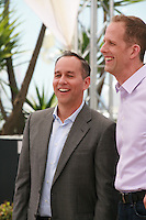 Producer Jonas Rivera and Director Pete Docter at the Inside Out film photo call at the 68th Cannes Film Festival Monday May 18th 2015, Cannes, France.