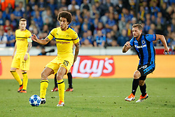 September 18, 2018 - Brugge, BELGIUM - Dortmund's Axel Witsel and Club's Mats Rits fight for the ball during a game between Belgian soccer team Club Brugge KV and German club Borussia Dortmund, in Brugge, Tuesday 18 September 2018, day one of the UEFA Champions League, in group A. BELGA PHOTO KURT DESPLENTER (Credit Image: © Kurt Desplenter/Belga via ZUMA Press)