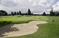 STAFFAN (Ierland) - K CLUB bij Dublin, de golfbaan waar in 2006 de Ryder Cup wordt gespeeld. Hole 9