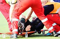 Fotball , 21. mai 2013 , Tippeligaen , Eliteserien<br /> Sarpsborg - Vålerenga<br /> Andre Muri, VIF bæres ut på båre