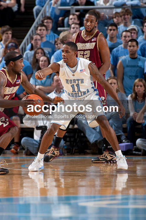04 January 2009: North Carolina Tar Heels guard Larry Drew II (11) during a 78-85 loss to the Boston College Eagles at the Dean Smith Center in Chapel Hill, NC.