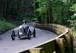 Boness Revival hillclimb motorsport event in Boness, Scotland, UK. The 2019 Bo'ness Revival Classic and Hillclimb, Scotland's first purpose-built motorsport venue, it marked 60 years since double Formula 1 World Champion Jim Clark competed here.  It took place Saturday 31 August and Sunday 1 September 2019. 58. Colin McLachlan.  Austin Seven.