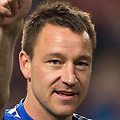Football - 2012 / 2013 Europa League Final - Benfica vs. Chelsea<br /> <br /> John Terry of Chelsea, who had put his kit on for the post-match celebrations despite not playing, gives the thumbs up at the Amsterdam ArenA, Netherlands