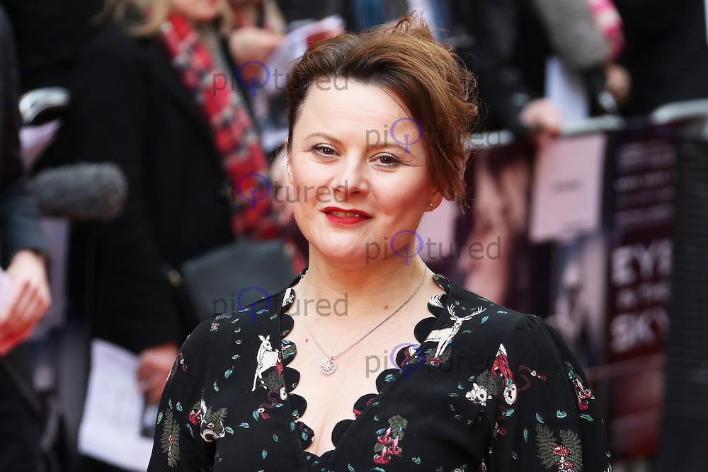 Monica Dolan, Eye in the Sky - UK film premiere, Curzon Mayfair, London UK, 11 April 2016, Photo by Richard Goldschmidt