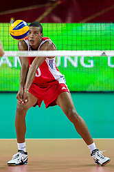 14.09.2014, Centennial Hall, Breslau, POL, FIVB WM, Kuba vs China, 2. Runde, Gruppe F, im Bild Osmany Santiago Uriarte Mestre cuba #20 // Osmany Santiago Uriarte Mestre cuba #20 during the FIVB Volleyball Men's World Championships 2nd Round Pool F Match beween Cuba and China at the Centennial Hall in Breslau, Poland on 2014/09/14. EXPA Pictures © 2014, PhotoCredit: EXPA/ Newspix/ Sebastian Borowski<br /> <br /> *****ATTENTION - for AUT, SLO, CRO, SRB, BIH, MAZ, TUR, SUI, SWE only*****