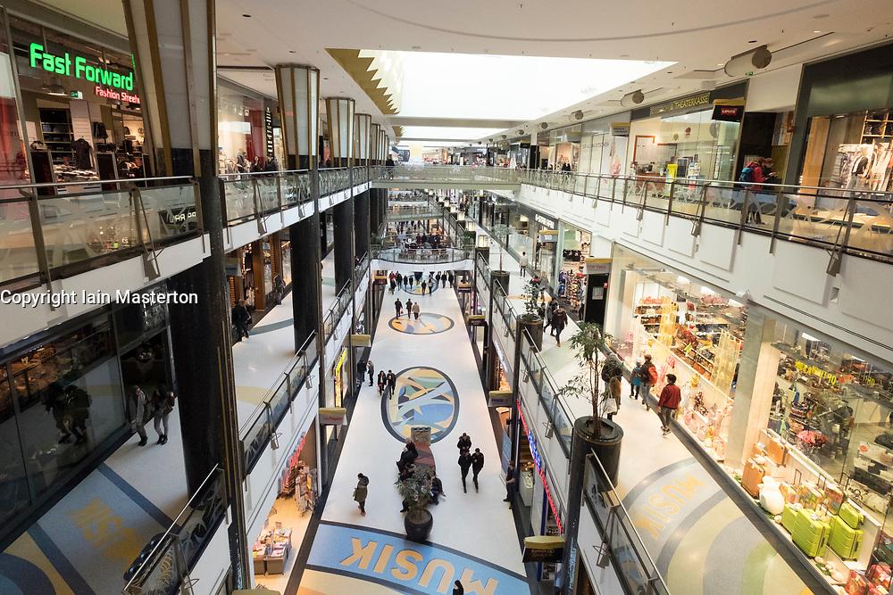 Interior of Alexa shopping mall in Alexanderplatz  Mitte Berlin