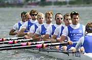 Poznan, POLAND.   2004 FISA World Cup, Malta Lake Course.  <br /> <br /> Fri. morning from the start pontoon<br /> GBR M8+ Bow Tom Stallard, Dan Ouseley, Josh West, Andrew Hodge, Jonno Devlin, Phil Simmons, Robin Bourne-Taylor and  Tom James. cox Christian Cormack<br /> 09.05.2004<br /> <br /> [Mandatory Credit:Peter SPURRIER/Intersport Images]