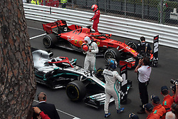 May 26, 2019 - Monte Carlo, Monaco - xa9; Photo4 / LaPresse.26/05/2019 Monte Carlo, Monaco.Sport .Grand Prix Formula One Monaco 2019.In the pic:  .1st position Lewis Hamilton (GBR) Mercedes AMG F1 W10 .2nd position Sebastian Vettel (GER) Scuderia Ferrari SF90 .3rd position Valtteri Bottas (FIN) Mercedes AMG F1 W10 (Credit Image: © Photo4/Lapresse via ZUMA Press)