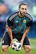 Gonzalo Higuain of Argentina warms up before the 2018 FIFA World Cup Russia, Group D football match between Nigeria and Argentina on June 26, 2018 at Saint Petersburg Stadium in Saint Petersburg, Russia - Photo Stanley Gontha / Pro Shots / ProSportsImages / DPPI