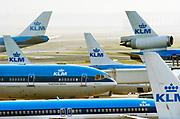 Nederland, Schiphol, 15-6-2013Diverse vliegtuigen van de KLM op het platform van luchthaven Schiphol.Foto: Flip Franssen/Hollandse Hoogte