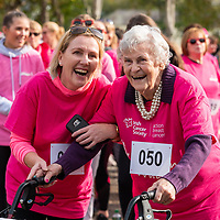 REPRO FREE<br /> Teresa O'Donovan and Judy O'Donovan from Cramers Court retirement home in Belgooly pictured at the 2019 Kinsale Pink Ribbon Walk in aid of the Irish Cancer Society Action Breast Cancer.<br /> Picture. John Allen