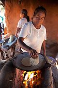 Mayo, indian, Making tortillas, Capomas Indian Village, El Fuerte, Sinaloa, Mexico
