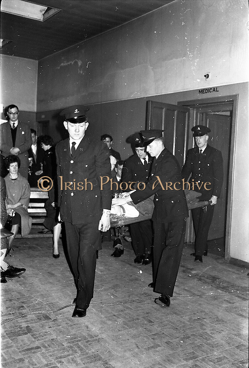 31/03/1963<br /> 03/31/1963<br /> 31 March 1963<br /> Civil Defence Competitions at Jervis Street Hospital, Dublin sponsored by W.D. & H.O. Wills Ltd., for the Gold Flake Trophy.