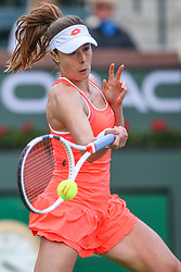 March 7, 2019 - Indian Wells, CA, U.S. - INDIAN WELLS, CA - MARCH 07: Alize Cornet (FRA) hits a forehand during the BNP Paribas Open on March 7, 2019 at Indian Wells Tennis Garden in Indian Wells, CA. (Photo by George Walker/Icon Sportswire) (Credit Image: © George Walker/Icon SMI via ZUMA Press)