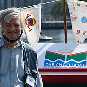 Hundreds of local communities attended the 2021 Angel Canal Festival with street food, music, and Kayaking and pedalos for children and family at the Regent's Canal, Graham Street, London, UK 2021-09-05.