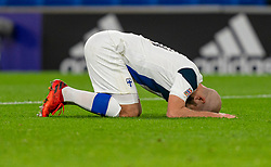 CARDIFF, WALES - Wednesday, November 18, 2020: Finland's Teemu Pukki looks dejected during the UEFA Nations League Group Stage League B Group 4 match between Wales and Finland at the Cardiff City Stadium. Wales won 3-1 and finished top of Group 4, winning promotion to League A. (Pic by David Rawcliffe/Propaganda)