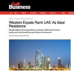 Gulf Business, Skyline of Dubai