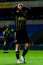 Luke Leahy of Bristol Rovers cuts a dejected figure after missing a penalty - Mandatory by-line: Robbie Stephenson/JMP - 06/10/2020 - FOOTBALL - Kassam Stadium - Oxford, England - Oxford United v Bristol Rovers - Leasing.com Trophy
