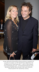 Writer IMOGEN EDWARDS-JONES and her husband at a party in London on 5th September 2002.PCZ 115