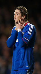 06.04.2011, Stamford Bridge, London, ENG, UEFA CL, Viertelfinale, Hinspiel, Chelsea FC (ENG) vs Manchester United (ENG), im Bild Chelsea's Fernando Torres looks dejected as his side lose 1-0 to Manchester United during the UEFA Champions League Quarter-Final 1st leg match at Stamford Bridge, EXPA Pictures © 2011, PhotoCredit: EXPA/ Propaganda/ D. Rawcliffe *** ATTENTION *** UK OUT!