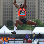 Whitney Gipston, USA, in action during the Women's long Jump competiton during the Diamond League Adidas Grand Prix at Icahn Stadium, Randall's Island, Manhattan, New York, USA. 13th June 2015. Photo Tim Clayton