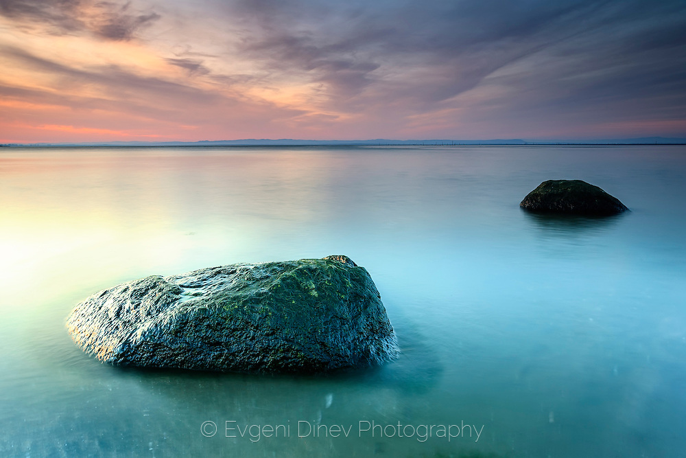 Calm, flat sea