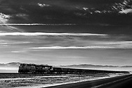 Outside of Helena Montana along Highway 12 empty coal cars head east toward the Powder River Basin to be reloaded.
