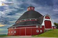 The J.H. Manchester Round Barn in New Hampshire, Ohio, USA