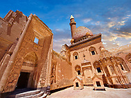 Courtyard of the 18th Century Ottoman architecture of the Ishak Pasha Palace (Turkish: İshak Paşa Sarayı) ,  Agrı province of eastern Turkey. .<br /> <br /> If you prefer to buy from our ALAMY PHOTO LIBRARY  Collection visit : https://www.alamy.com/portfolio/paul-williams-funkystock/ishak-pasha-palace-turkey.html<br /> <br /> Visit our TURKEY PHOTO COLLECTIONS for more photos to download or buy as wall art prints https://funkystock.photoshelter.com/gallery-collection/3f-Pictures-of-Turkey-Turkey-Photos-Images-Fotos/C0000U.hJWkZxAbg
