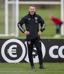 CARDIFF, WALES - Sunday, November 17, 2019: Wales' manager Ryan Giggs during a training session at the Vale Resort ahead of the final UEFA Euro 2020 Qualifying Group E match against Hungary. (Pic by David Rawcliffe/Propaganda)