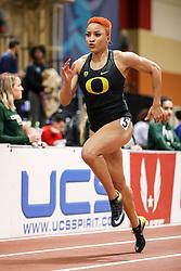 Don Kirby Invitational Indoor Track & Field<br /> Albuquerque, NM, Feb 14, 2020<br /> womens 400m, Oregon,
