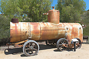 Portable Steam Boiler on display in the equipment yard at the Olinda Oil Museum