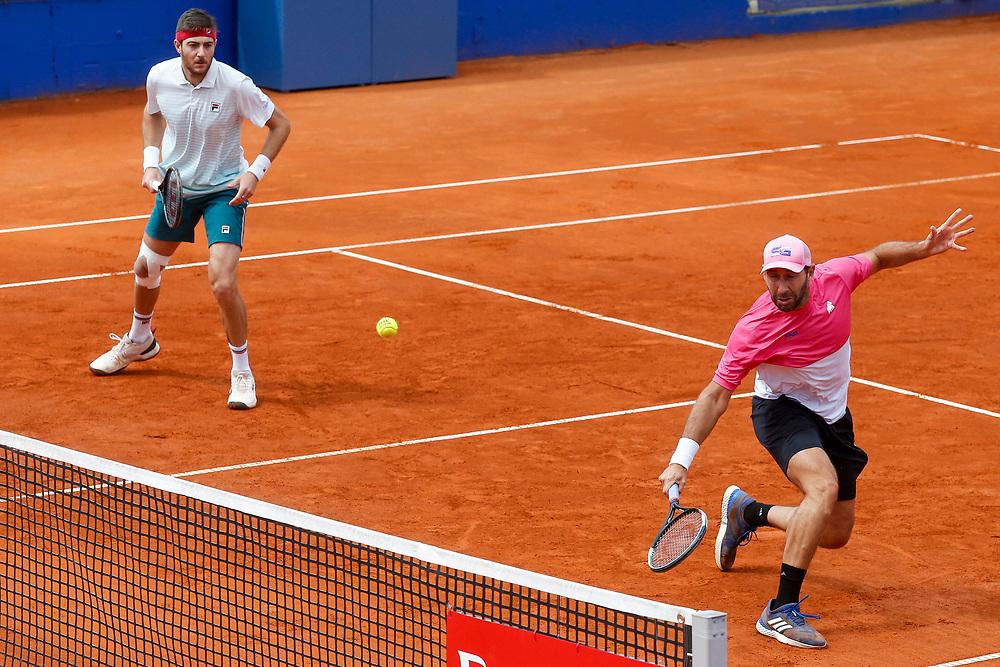 Tennis-ATP Serbia Open Belgrade 2021-<br /> John Millman (AUS)-John Patrick Smith (AUS) v Marcelo Demoliner (BRA)-Santiago Gonzales (MEX)<br /> Beograd, 21.04.2021.foto: Srdjan Stevanovic/Starsportphoto ©