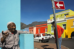 September 30, 2018 - South Africa - Colourful buildings houses in Bo-Kaap, Malay Quarter, Cape Town, Western Cape, South Africa (Credit Image: © Sergi Reboredo/ZUMA Wire)
