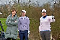 VLAARDINGEN - Persconferentie Ladies Open. Elsemieke Havenga met Christel Boeljon  en Marjet van der Graaff (r).  COPYRIGHT KOEN SUYK