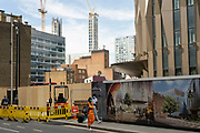 Tower block construction in Whitechapel on 2nd July 2021 in London, United Kingdom.