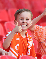 Blackpool fan<br /> <br /> Photographer Rob Newell/CameraSport<br /> <br /> The EFL Sky Bet League One Play-Off Final - Blackpool v Lincoln City - Sunday 30th May 2021 - Wembley Stadium - London<br /> <br /> World Copyright © 2021 CameraSport. All rights reserved. 43 Linden Ave. Countesthorpe. Leicester. England. LE8 5PG - Tel: +44 (0) 116 277 4147 - admin@camerasport.com - www.camerasport.com