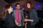 ALEXANDRA SHULMAN; ED TAYLOR; TAMSIN EGERTON;  The Vogue Festival 2012 in association with Vertu- cocktail party. Royal Geographical Society. Kensington Gore. London. SW7. 20 April 2012.