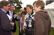 Johann Rupert, Arnaud Bamberger, Anton Rupert and Lord March, Cartier Style Et Luxe, Goodwood, 27 June 2004. SUPPLIED FOR ONE-TIME USE ONLY-DO NOT ARCHIVE. © Copyright Photograph by Dafydd Jones 66 Stockwell Park Rd. London SW9 0DA Tel 020 7733 0108 www.dafjones.com