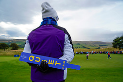 Auchterarder, Scotland, UK. 14 September 2019. Saturday morning Foresomes matches  at 2019 Solheim Cup on Centenary Course at Gleneagles. Pictured; Marshall beside the 4th green. Iain Masterton/Alamy Live News