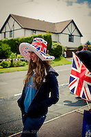 A few shots from the Olympic Torch Relay as it climbed Church Hill, Totland Bay, on the Isle of Wight.