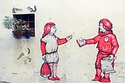 La Divina Comedia. Urban Graffiti in Florence, Italy