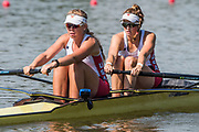 Plovdiv BULGARIA. 2017 FISA. Rowing World U23 Championships. <br /> USA BW2- Bow. BREWER, Kendall and PIERSON, Brooke<br /> Wednesday. PM,  Heats 16:45:09  Wednesday  19.07.17   <br /> <br /> [Mandatory Credit. Peter SPURRIER/Intersport Images].