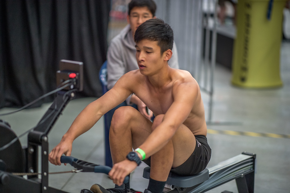 Jamie Wilson  MALE HEAVYWEIGHT Masters A 2K Race #1 08:30am<br /> <br /> <br /> www.rowingcelebration.com Competing on Concept 2 ergometers at the 2018 NZ Indoor Rowing Championships. Avanti Drome, Cambridge,  Saturday 24 November 2018 © Copyright photo Steve McArthur / @RowingCelebration