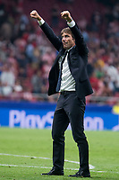 Chelsea's coach Antonio Conte celebrating the victory  during UEFA Champions League match between Atletico de Madrid and Chelsea at Wanda Metropolitano in Madrid, Spain September 27, 2017. (ALTERPHOTOS/Borja B.Hojas)