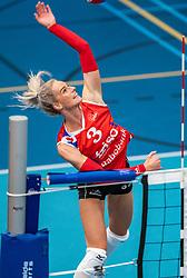 Anlene van der Meer #3 of VC Sneek in action during the supercup semifinal between VC Sneek and Sliedrecht Sport on October, 03 2020 in Van der Knaaphal, Ede