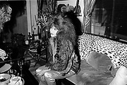 TAMA JANOWITZ<br /> Robert Mapplethorpe birthday party. 23 St.                      New York. 1988. <br /> <br /> SUPPLIED FOR ONE-TIME USE ONLY> DO NOT ARCHIVE. © Copyright Photograph by Dafydd Jones 248 Clapham Rd.  London SW90PZ Tel 020 7820 0771 www.dafjones.com
