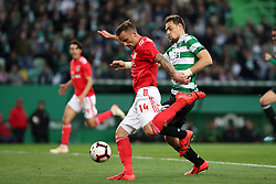 February 3, 2019 - Lisbon, Portugal - Benfica's Suisse forward Haris Seferovic vies with Sporting's defender Sebastian Coates from Uruguay during the Portuguese League football match Sporting CP vs SL Benfica at Alvalade stadium in Lisbon, Portugal on February 3, 2019. (Credit Image: © Pedro Fiuza/NurPhoto via ZUMA Press)